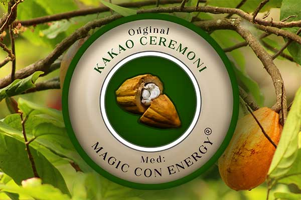 Kakao ceremoni logo kakao planten spirituel magic con energi